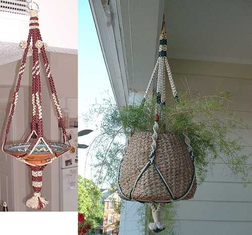 Claire 39 s crafts - Faire macrame suspension ...